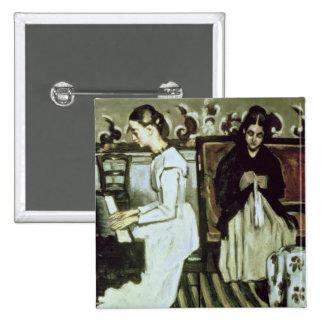 Girl at the Piano , 1868-69 15 Cm Square Badge