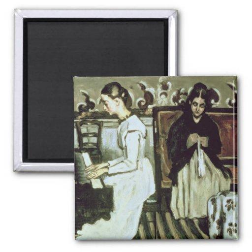 Girl at the Piano , 1868-69 Fridge Magnets