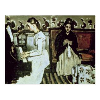 Girl at the Piano , 1868-69 Postcard