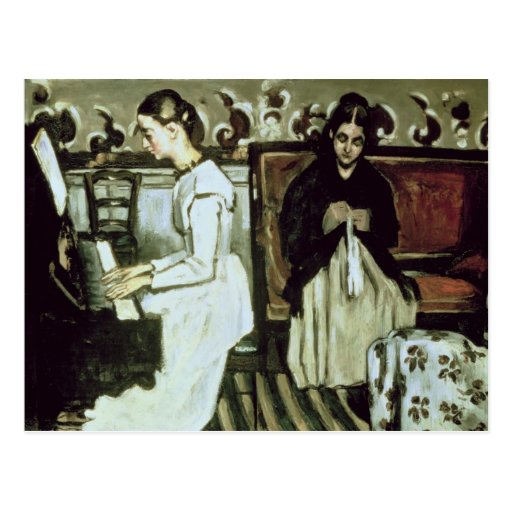 Girl at the Piano , 1868-69 Postcards