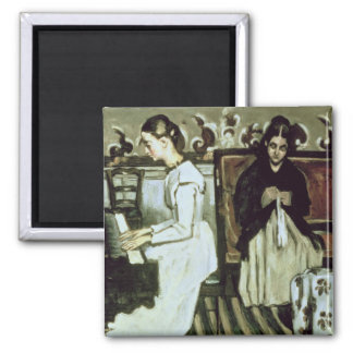 Girl at the Piano , 1868-69 Square Magnet