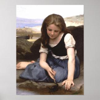 Girl at the Seashore Poster