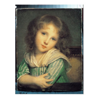 Girl at the Window Post Card