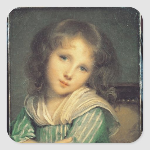 Girl at the Window Square Sticker