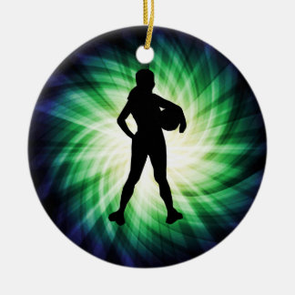 Girl Athlete; Cool Christmas Ornament