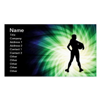 Girl Athlete; Cool Pack Of Standard Business Cards