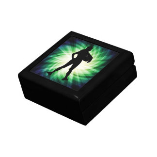 Girl Athlete; Cool Small Square Gift Box