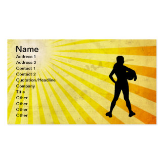 Girl Athlete; yellow Pack Of Standard Business Cards