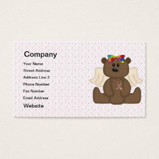 Girl Autism Awareness Bear Business Card
