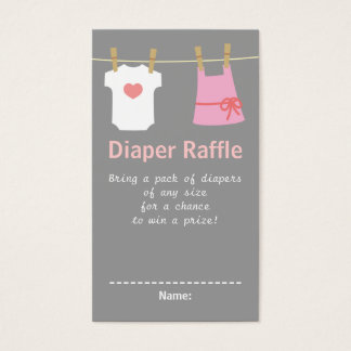 Girl Baby Shower, Clothes Diaper Raffle Tickets