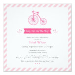Girl Baby Shower Flat Announcement Card 13 Cm X 13 Cm Square Invitation Card