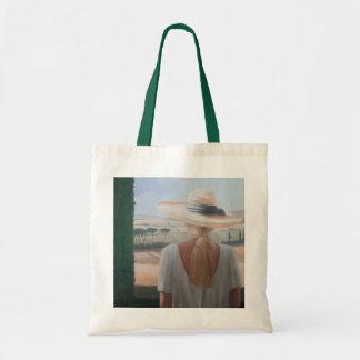 Girl back view Tuscany 2012 Budget Tote Bag