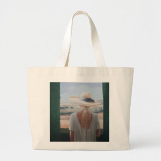 Girl back view Tuscany 2012 Large Tote Bag