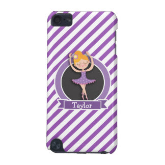Girl Ballet Dancer; Ballerina; Purple & White iPod Touch (5th Generation) Cases