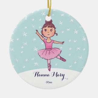 Girl Ballet Ornament   Christmas ballerina