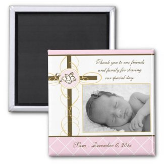 Girl Baptism/Christening Favour - Photo Magnet