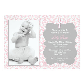 Girl Baptism Invitations