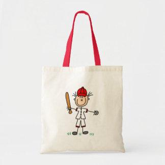 Girl Baseball Player Tshirts and Gifts Budget Tote Bag