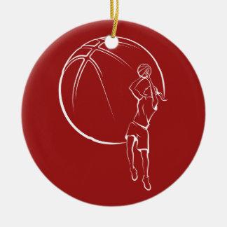 Girl Basketball Shooter Christmas Ornament