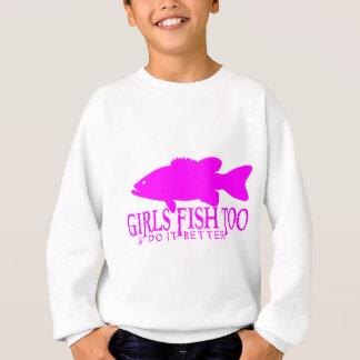 GIRL BASS FISHING SWEATSHIRT