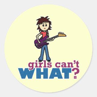 Girl Bass Guitar Player Sticker