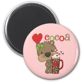 Girl Bear Cocoa Love Fridge Magnets
