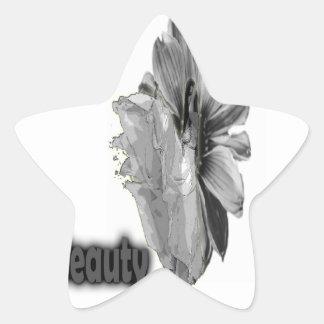 Girl Beauty sweet  gray Star Sticker
