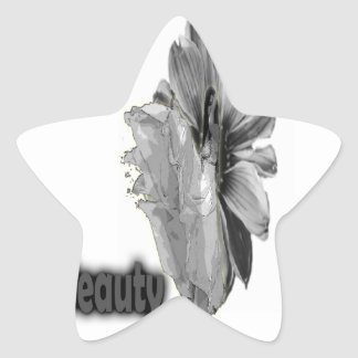 Girl Beauty sweet  gray Star Stickers