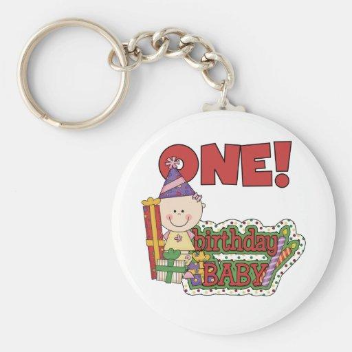 Girl Birthday Baby Tshirts and Gifts Keychain