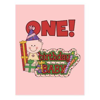 Girl Birthday Baby Tshirts and Gifts Postcard