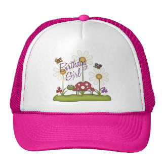 Girl Birthday Bugs Cap