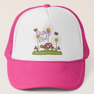 Girl Birthday Bugs Trucker Hat