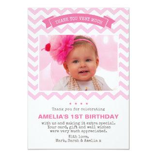 Girl birthday thank you card