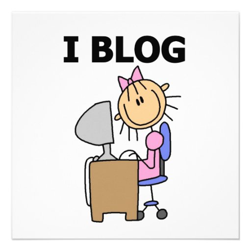 Girl Blogger Custom Announcements
