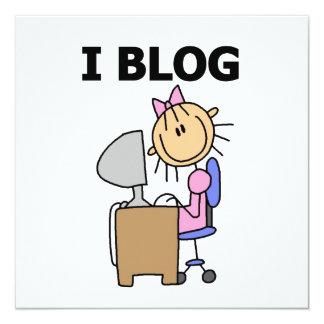 Girl Blogger 13 Cm X 13 Cm Square Invitation Card