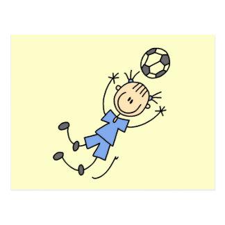 Girl Blue Soccer Uniform Tshirts and Gifts Postcard