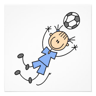 Girl Blue Uniform Soccer Player T-shirts and Gifts Custom Invitation