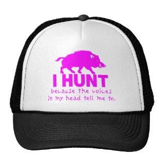 GIRL BOAR HUNTING TRUCKER HATS