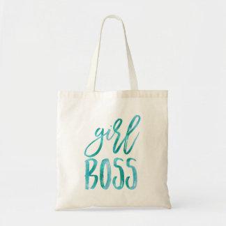 Girl Boss | Aqua Watercolor Tote Bag