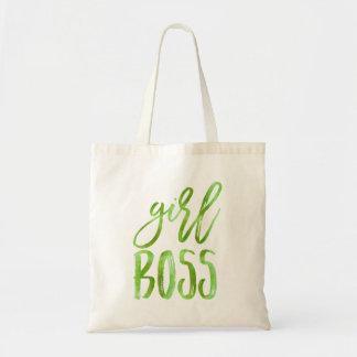Girl Boss | Lime Green Watercolor Tote Bag