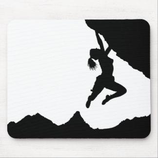 girl boulderer and Matterhorn Mouse Pad