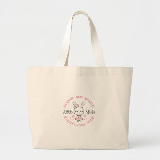 GIRL BUNNY SUGAR AND SPICE TOTE BAGS