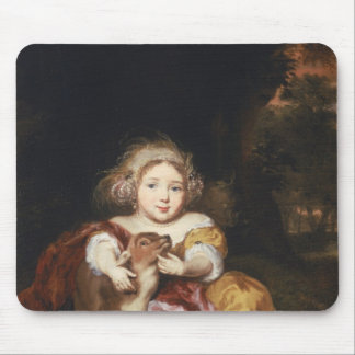 Girl Caressing a Fawn Mouse Pad