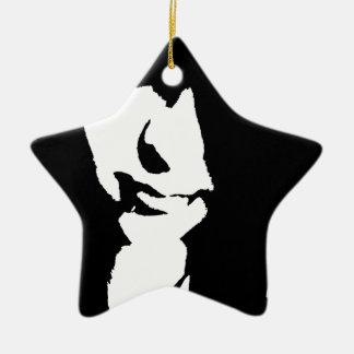 Girl Ceramic Star Decoration