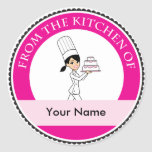 Girl Chef Print Stickers
