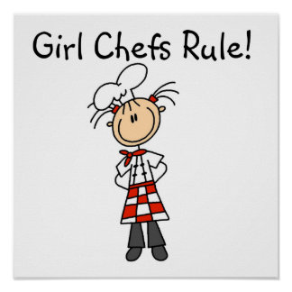 Girl Chefs Rule Poster
