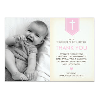 Girl Christening/Baptism Thank You Card