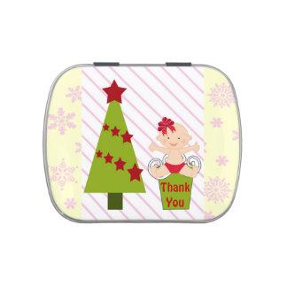 Girl Christmas Baby Shower Favor Candy Tins