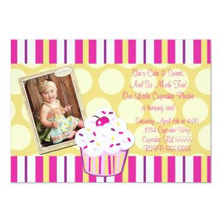 Girl Confetti Cupcake Invite