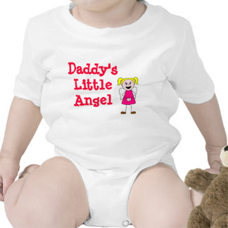 girl, Daddy's Little Angel Baby Bodysuits